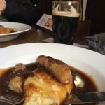 sausage and mash lunch