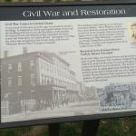 Historical information outside house
