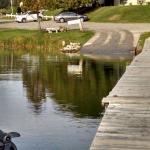 Boat ramp, motel