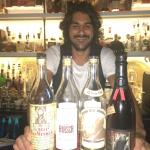 Bartender Tim at 25 Quarter with some of the best bourbon selection in the Caribbean