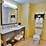 Enjoy deluxe toiletries and a spacious vanity