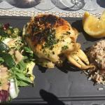 Tartine du Berger/ Soupe de poisson et Seiche à la plancha.