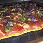 Spicy Tuna Sashimi Pizza