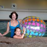 Fun in the pool - they provided the big beach ball!