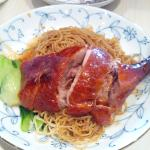Dry wan ton noodles with duck