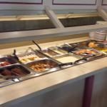 Hot side of the breakfast buffet