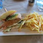 Crisp foccacia bread, delicious fresh fillings, the chips were crisp and delicious
