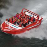 Jet boating on the Waiau River, Hanmer Springs