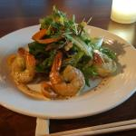 Jumbo shrimp with mixed greens- so healthy!