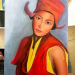 This was my last piece with Noina, As I got more confident, I moved on to oil painting.