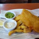 Fish and chips in mock newspaper. £11.95 was a bit steep though