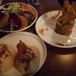 Beet salad, tuna, lobster rolls