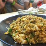 uni fried rice,sweet prawns,clam soup,fresh oyster,uni sushi