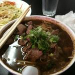 Beef boat noodle soup