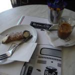 Espresso and cannoli.