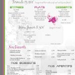 menus et boissons