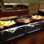 Breakfast-hot food breakfast items (three per morning).