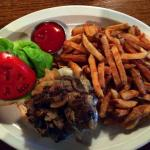 Fresh-ground Charbroiled burger and hand-cut fries!