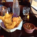 Signage, Margarita, Salsa & Chips (in lieu of bread).