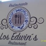 "new location sign with new name ""restaurante Los Edwin's"