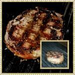 Filet Mignon Butterflied wrapped in bacon