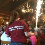 Birthday Celebration at the table next to us.  Looked like fireworks!