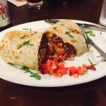 Carne asasa burrito at Cenote Grill