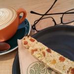 Yummy coffee and biscotti