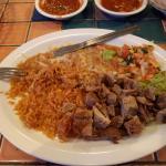 Carnitas dinner plate