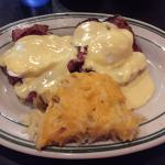Eggs Benedict - best part were the cheesy ptoatoes
