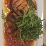 grilled chicken with chipotle sauce and rocket and sweet potato!