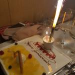Dessert avec une super belle attention pour l'anniversaire de mon amie)