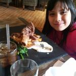 She is 7 years old, the short ribs bigger than her head! haha