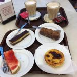 Latte and pastries