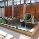 Water feature in the IXL atrium