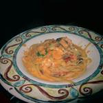 Linguini with shrimp dish