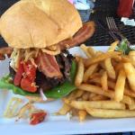 Incredible burger and fries. Superb