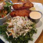 Cod cole slaw and salad