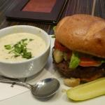 Roasted Garlic Gorgonzola Burger...