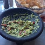 The freshly made guacamole