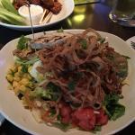 Gardein soy BBQ chicken salad small