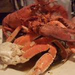 My Monday night dinner choice- The Lobster Clam Bake - so much seafood so delish!
