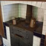 Rustic stove in the kitchen