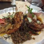 Paratha de coquelet (plat indien)