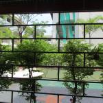 The patio adjoins a private garden.