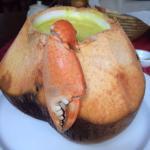 The coconut crab soup - delicious