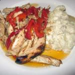 Grilled Chicken Paillard with Scalloped Potatoes