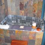 Bath tub in lower Coast House (Rico) in 2005.