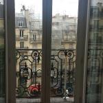 Lobby, room key, view from balcony