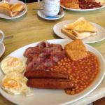Large breakfast with free tea and toast!